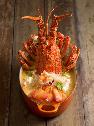 Coco Lobo Live Lobster With Vermicelli In Superior Stock